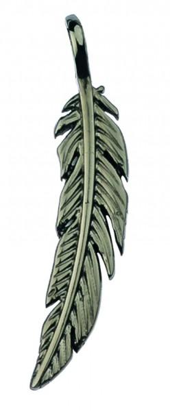 Traumfänger Feder grau 7,5 cm