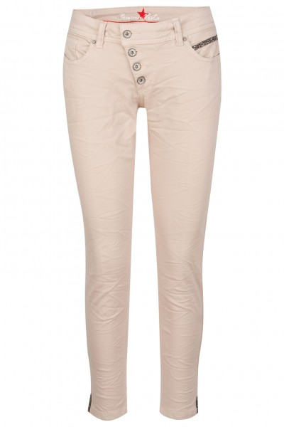 Buena Vista Jeans Malibu 7/8 Stretch Twill mit schwarzen Steinchen
