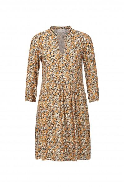 Rich & Royal Kleid mit feinem Blumen-Muster und Cut-Out