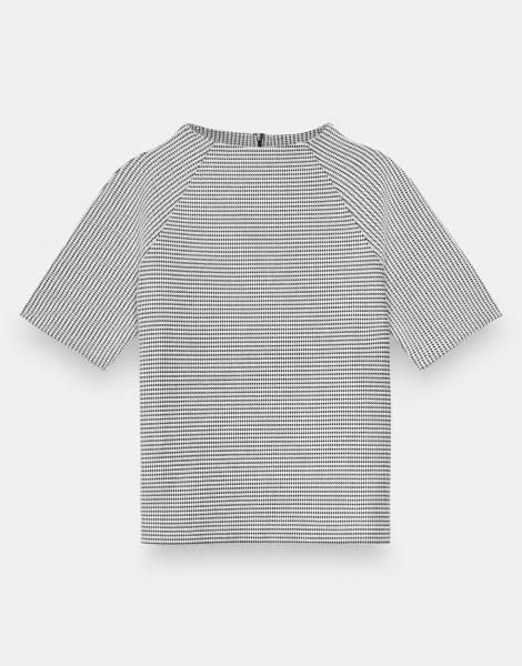 Someday Sweatshirt Uvita Texture mit Hahnentritt-Muster