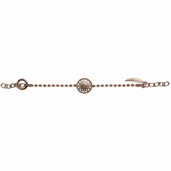 Traumfänger Armband rosé Stern