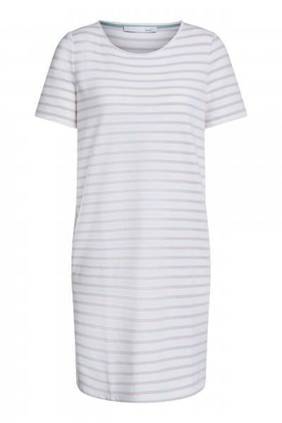 Oui Kleid mit beigefarbenen Streifen