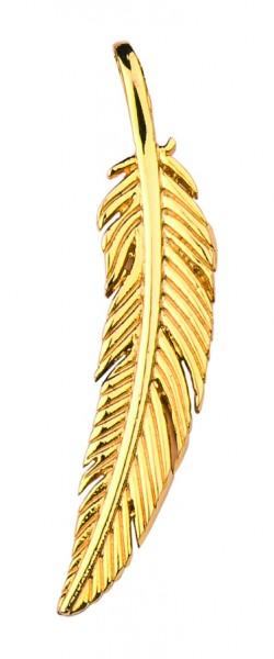 Traumfänger Feder gold 5,5 cm