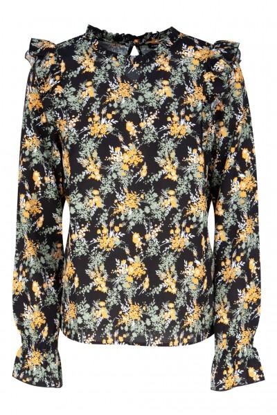 #One more Story Bluse mit Voilant und Blumen-Muster