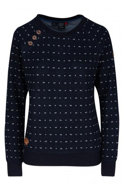 Ragwear Sweatshirt DARIA DOTS mit Knopfdetails