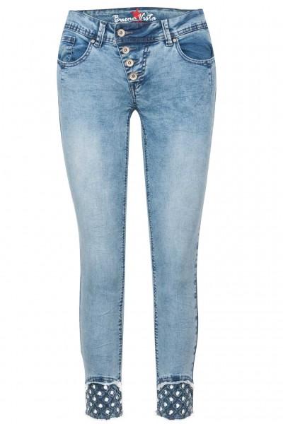Buena Vista Jeans Malibu 7/8 Stretch Denim Embro
