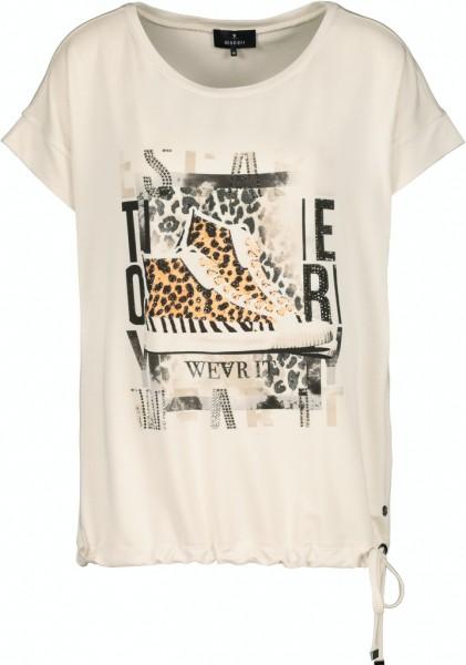 Monari Shirt mit Print und Tunnelzug