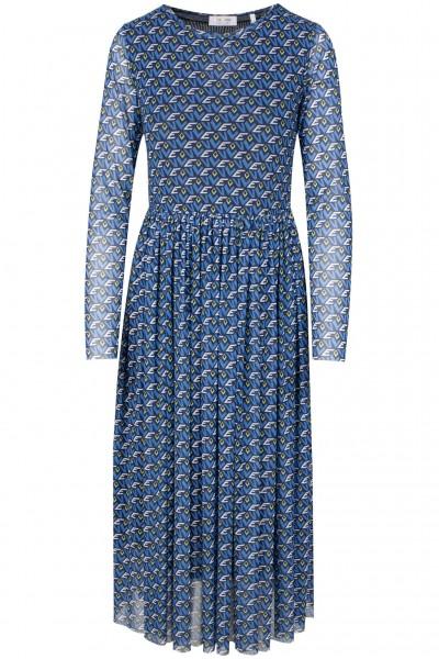 Rich & Royal Mesh-Kleid mit grafischem Muster