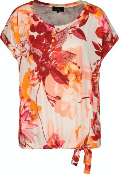 Monari T-Shirt mit floralem Muster