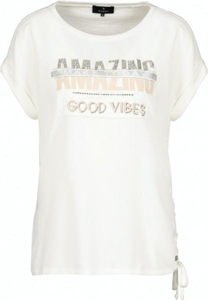 Monari T-Shirt mit Schriftdruck und Tunnelzug
