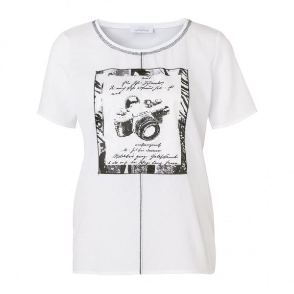 Just White Kurzarmshirt