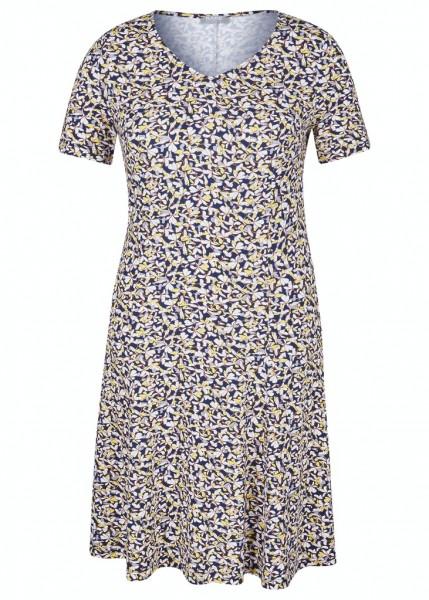 Rabe Kleid mit Blumen-Muster
