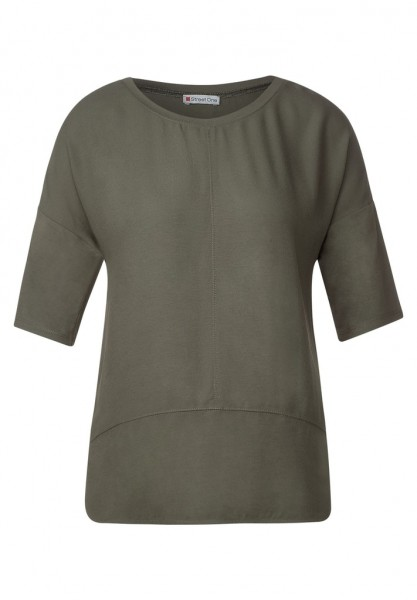 Street One Shirt mit Materialmix