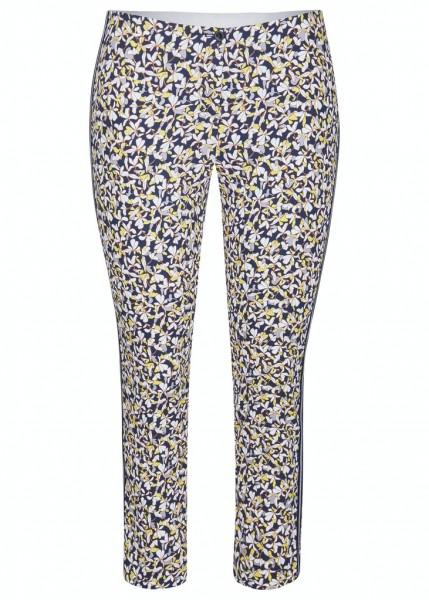 Rabe Hose mit Blumen-Muster