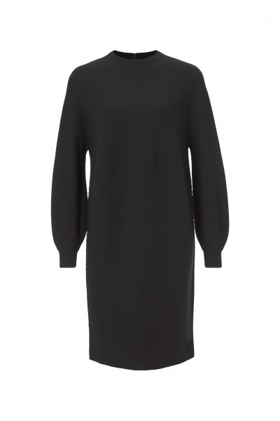 Rich & Royal Feinstrick-Kleid mit Ballon-Ärmeln