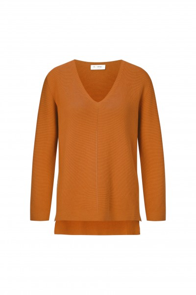 Rich & Royal Pullover mit High-Low-Saum