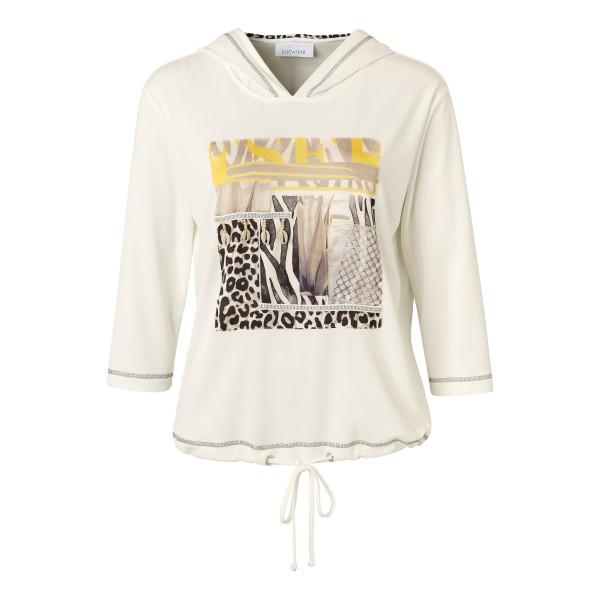 Just White Sweatshirt mit Front-Print und Kapuze