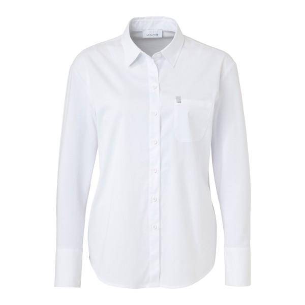Just White Bluse mit seitlichem Streifen