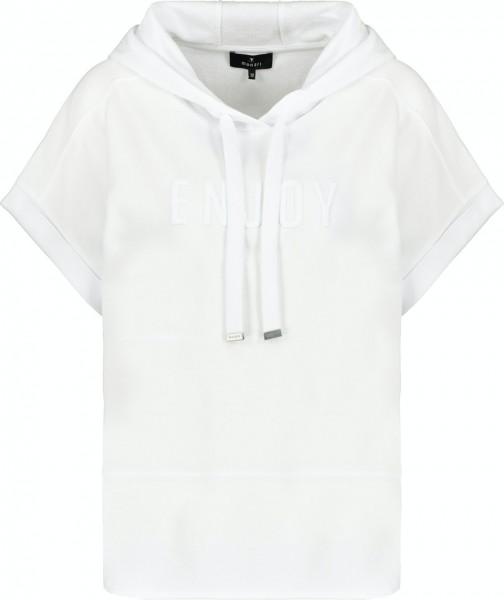 Monari Sweatshirt mit kurzen Ärmeln und Kapuze