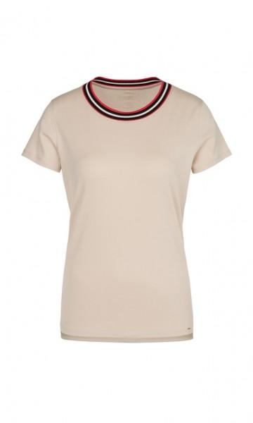 Marc Cain Collection Basic-T-Shirt mit Strickbündchen