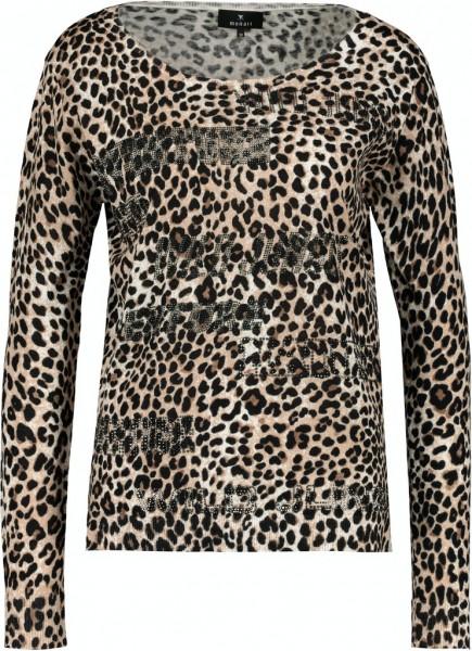 Monari Pullover mit Leo-Muster