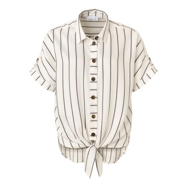 Just White Bluse mit Streifen