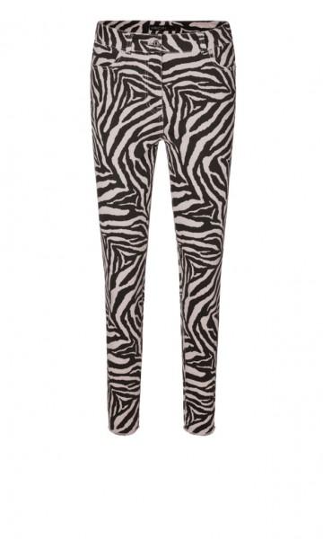 Marc Cain Sports Verkürzte Jeans mit Zebra-Muster