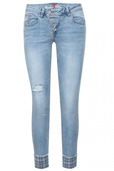 Buena Vista Jeans Malibu 7/8 Stretch Denim Check