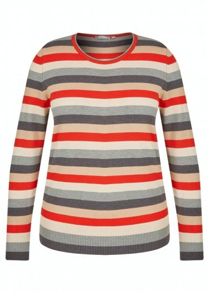 Rabe Basics Langarmshirt mit bunten Streifen