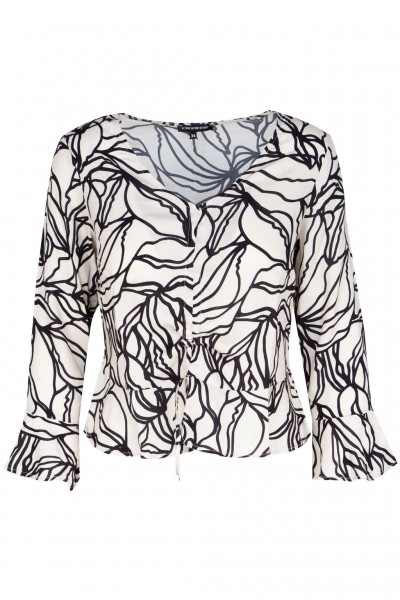 #One more Story Bluse mit Safari-Muster