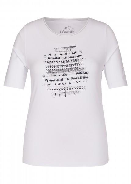 Rabe T-Shirt mit dezenetem Front-Print