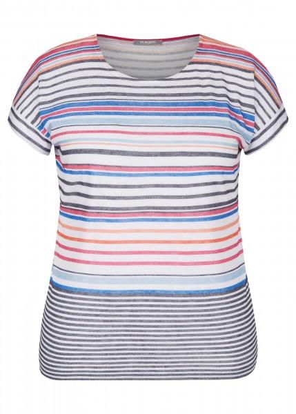 Rabe T-Shirt mit horizontalen bunten Streifen