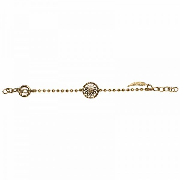 Traumfänger Armband gold Stern