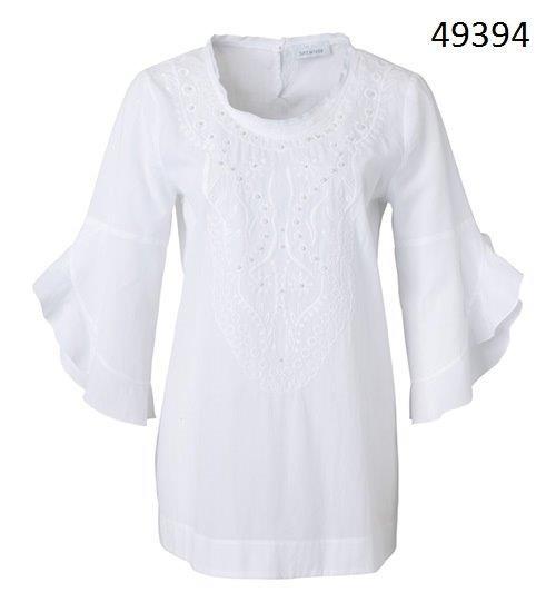 Just White Blusen 49394