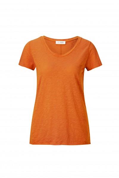 Rich & Royal T-Shirt aus Baumwolle mit V-Neck